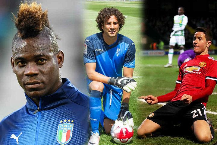 Mario Balotelli (l.), Guillermo Ochoa (M.) und Ander Herrera stünden vielen Mannschaften gut zu Gesicht. (Bildmontage)