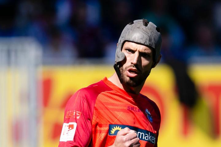 Der Abräumer des SC Paderborn 07 forderte auch schon eine Helmpflicht für alle Profis.