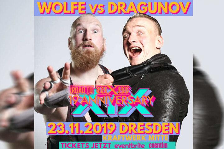Zwei Wrestling-Stars zurück in der Heimat: Fans freuen sich auf den Kampf der beiden gebürtigen Dresdner.