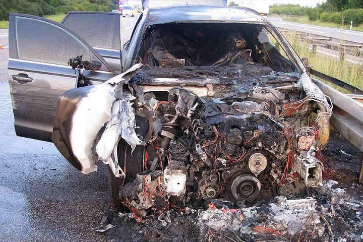 Der neue Audi fing sofort Feuer.