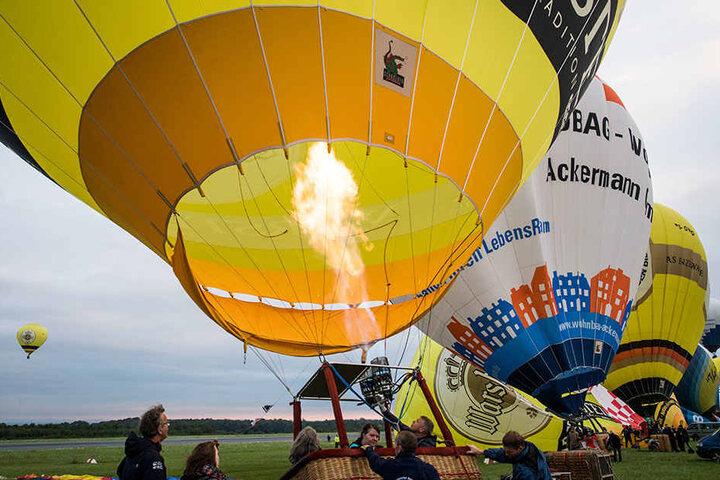 Insgesamt nahmen 45 Ballone an dem Spektakel teil.