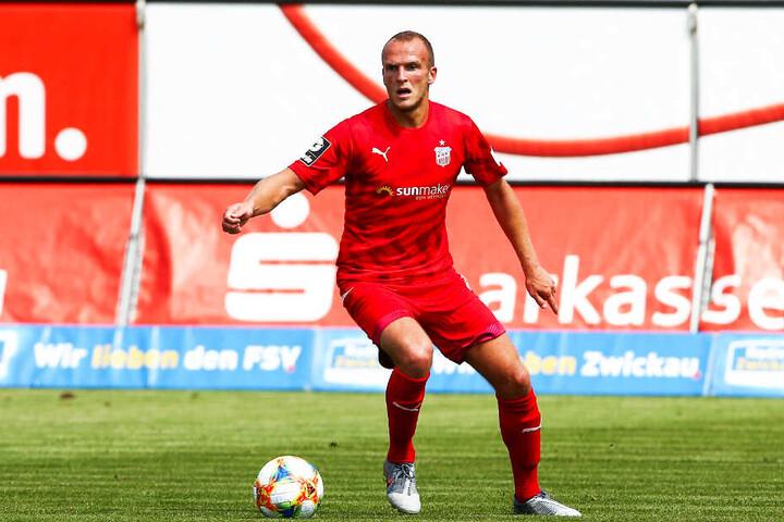 Julius Reinhardt hat beim FSV Zwickau laut eigener Aussage den Spaß am Fußball spielen wiedergefunden.
