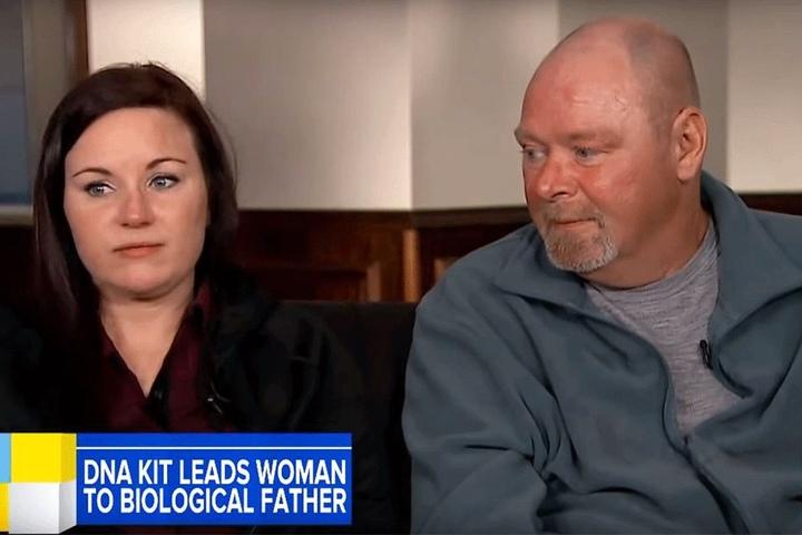Sabrina Payne mit ihrem leiblichen Vater Duane Kellems.