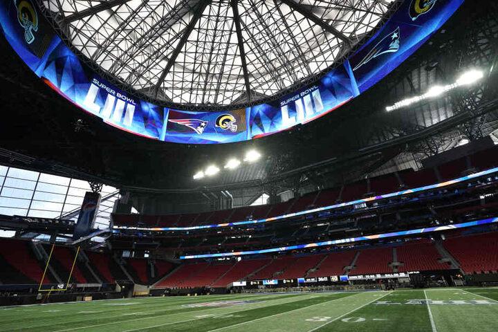 Das Mercedes-Benz-Stadium in Atlanta ist Austragungsort des diesjährigen Super Bowl.