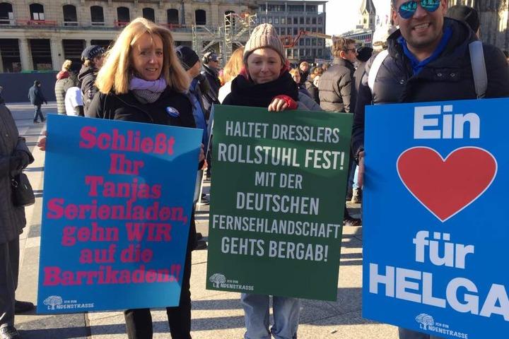 Demo-Teilnehmer am Samstag in Köln.