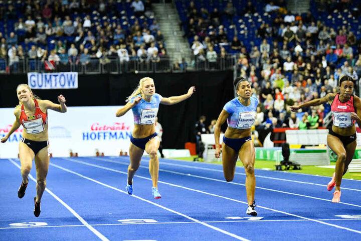 Beim Final-Tag des ISTAF wollen die deutschen Sprinterinnen und Sprinter wieder Siege einfahren.