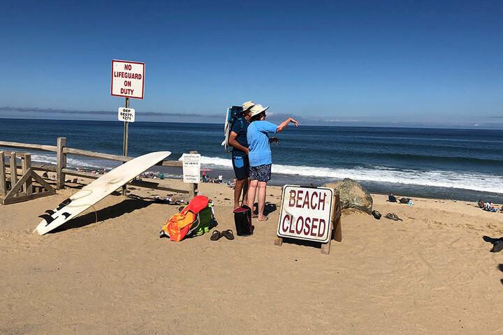 Der Newcomb Hollow Beach wurde nach dem Hai-Angriff vorsorglich gesperrt.