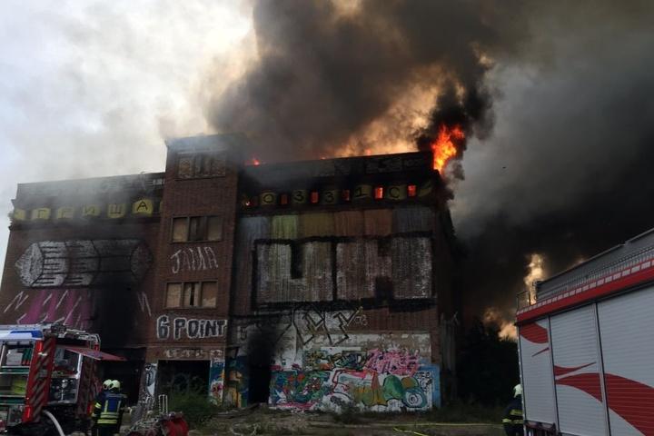 Der Schlachthof brannte komplett aus.
