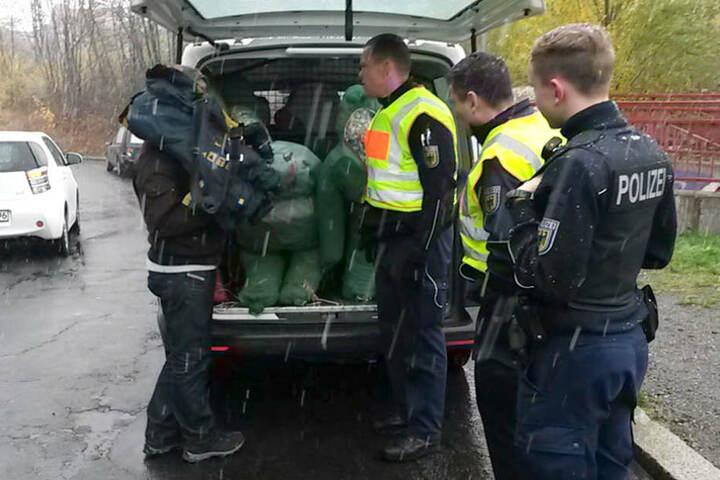 Die Polizei hat alle Hände voll zu tun, die Puppen aus dem Stadtbild zu entfernen.