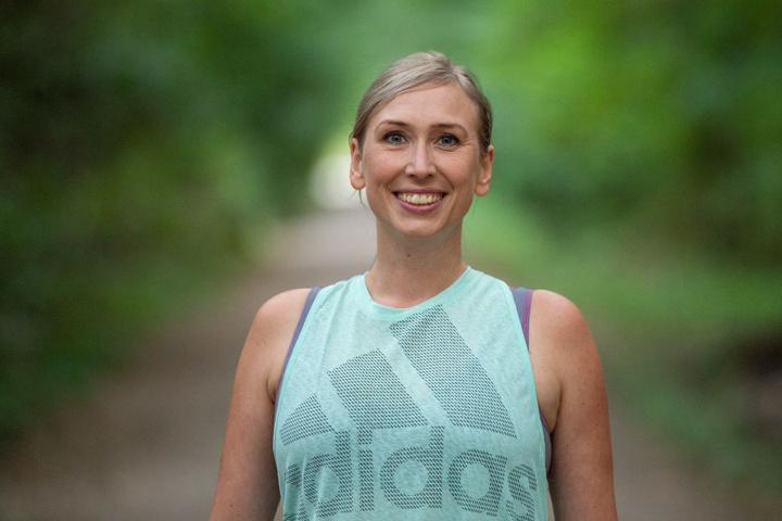 Am Sonntag lief sie den Berlin-Marathon.