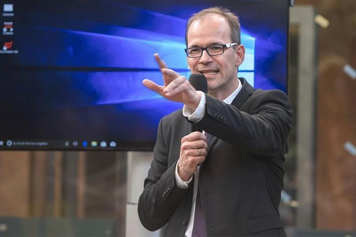 CWE-Chef Sören Uhle (42) erhofft sich viel von KRACH. Die Chemnitzer Wirtschaftsförderung organisiert das Programm.