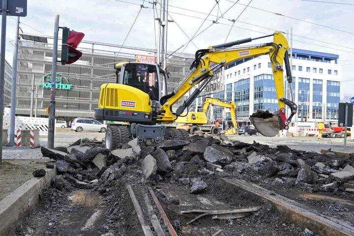 Alles neu! Der letzte Bauabschnitt zur Neugestaltung der Zentralhaltestelle hat am Montag begonnen.
