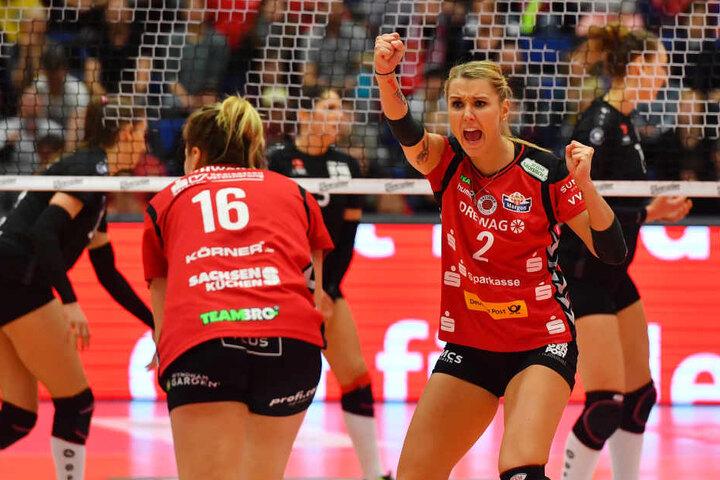 Eine starke Mareen Apitz (re.) und Katharina Schwaben konnten jubeln.