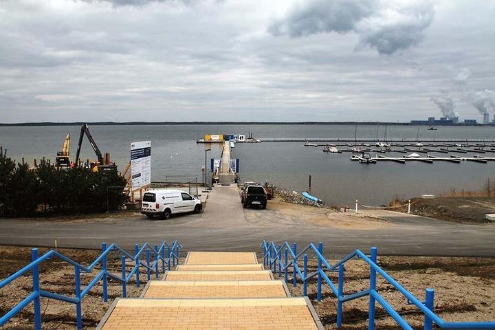 Der Hafen Klitten soll die schwimmenden Häuser beherbergen.