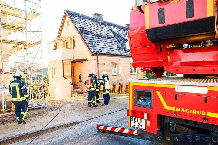 Die Isolierung eine Wasserpumpe geriet in Brand.