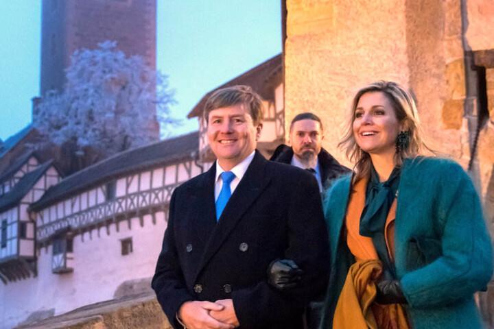 Willem-Alexander und Máxima besuchen die Wartburg in Eisenach.