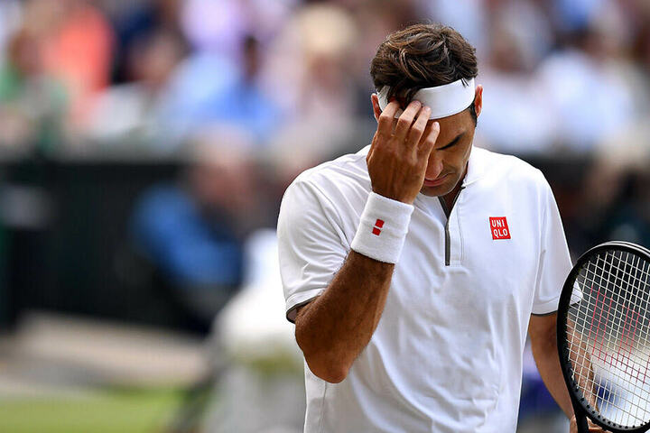 Musste sich am Ende geschlagen geben: Roger Federer