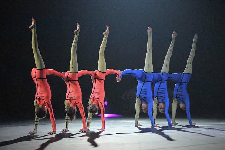 "Körperbeherrschung in Perfektion: Die ""Gusel Group"" zeigt ihre Handstandartistik."