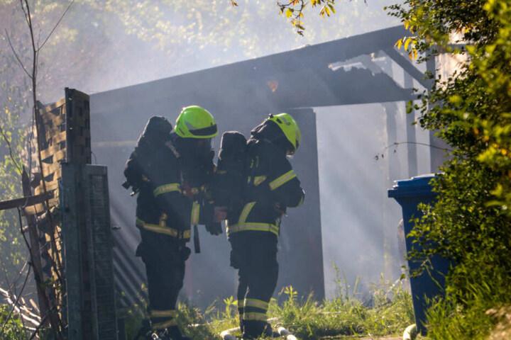 Auch die Einsatzkräfte der Feuerwehr konnten das Haus nicht mehr retten.