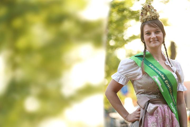 Elisabeth Dreher ist Sachsens neue Erntekönigin.