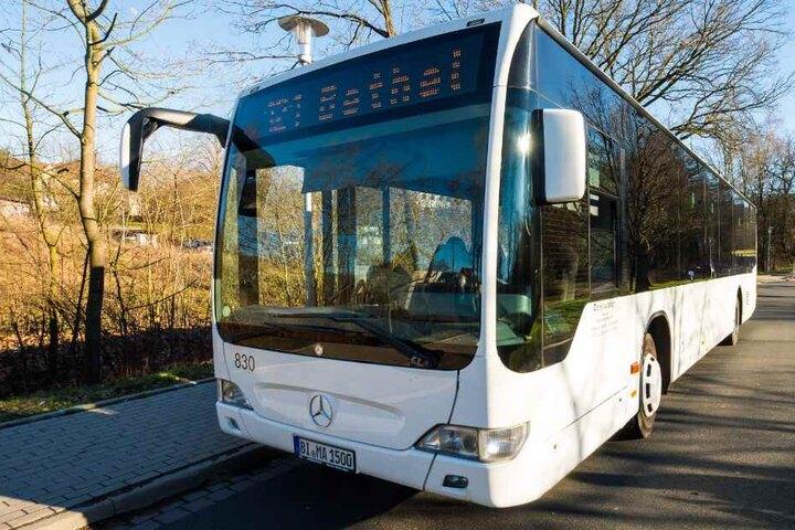 Am Steuer dieses Busses brach der 58-jährige Fahrer zusammen.