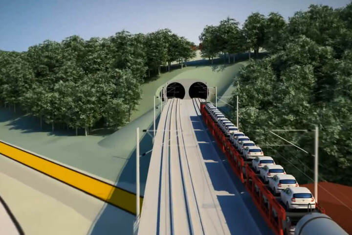 Die Neubaustrecke soll in weiten Teilen durch Tunnel verlaufen.