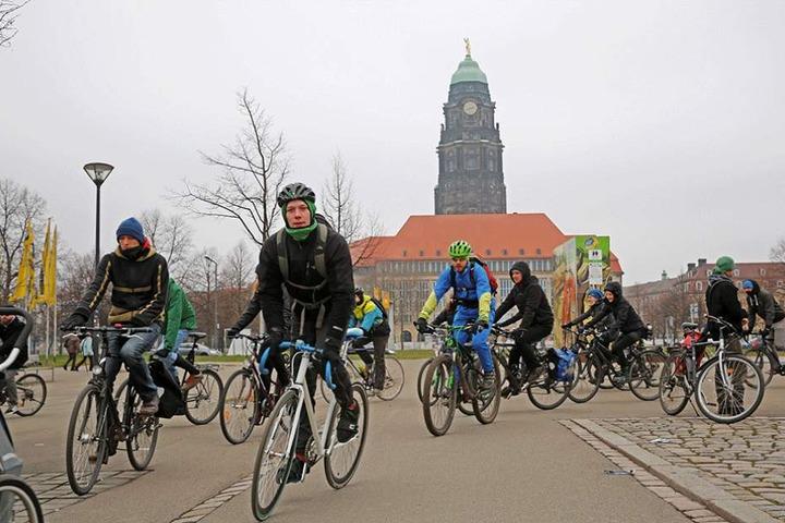 Immer wieder gibt es in Dresden Demos für eine fahrradfreundlichere Stadt.