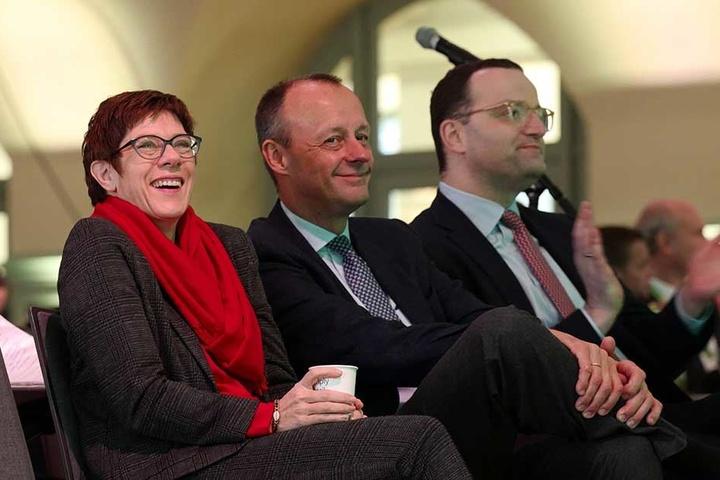 Kampf um den CDU-Vorsitz: Die Anwesenheit von Annegret Kramp-Karrenbauer (56), Friedrich Merz (63) und Jens Spahn (38) sorgte für Riesenandrang.