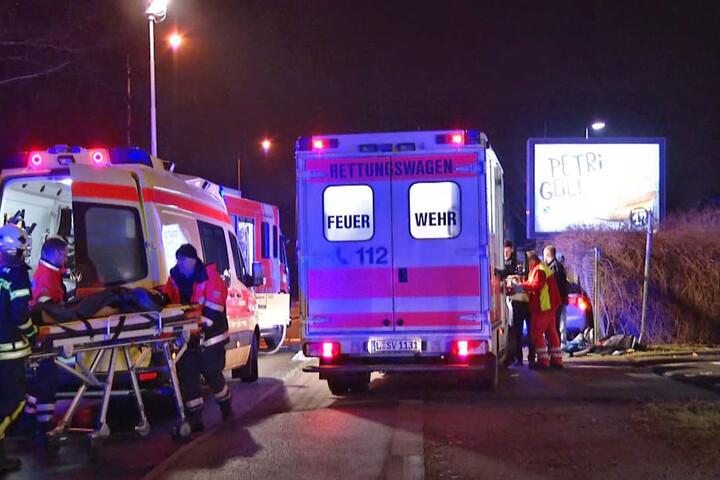 Die beiden schwer Verletzten kamen ins Krankenhaus.