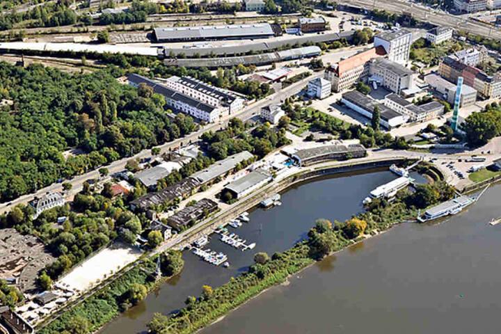 Dieses Areal zwischen Hafen und Leipziger Straße wird zur noblen Hafencity.