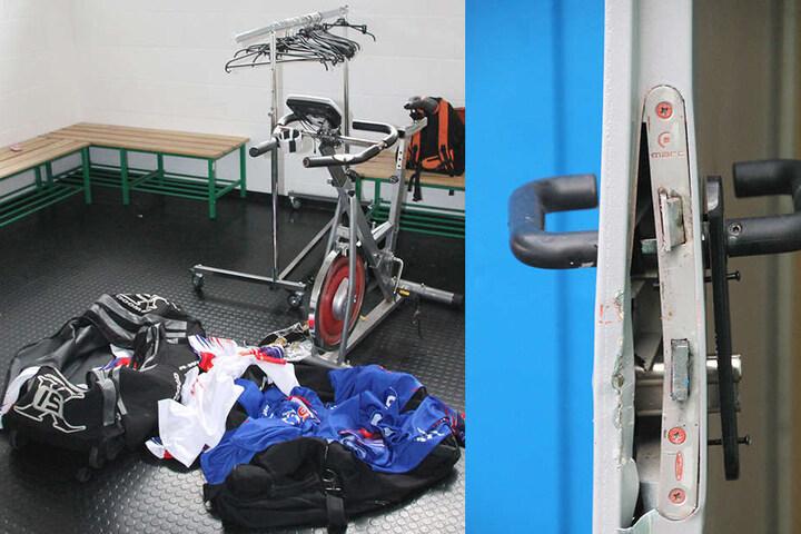 Die Einbrecher stahlen im Stadion zahlreiche Ausrüstungsgegenstände, sogar  Trikots.