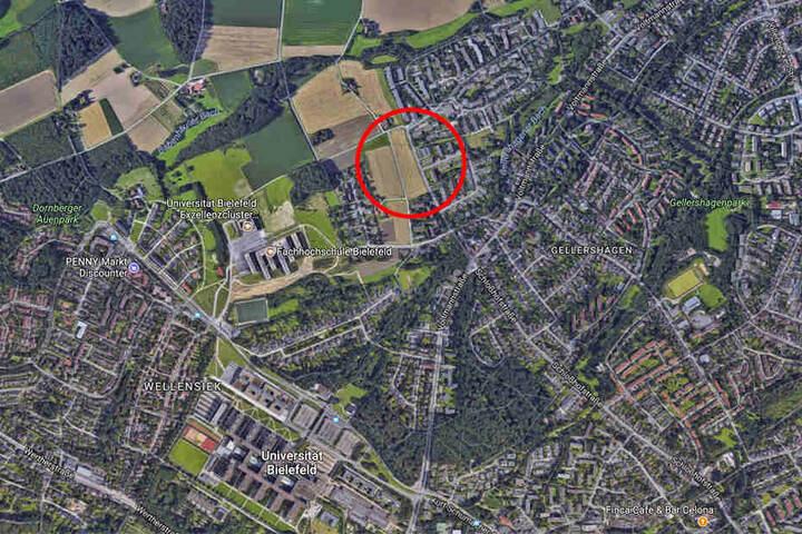 Das Baugebiet liegt nahe der Uni und Fachhochschule.