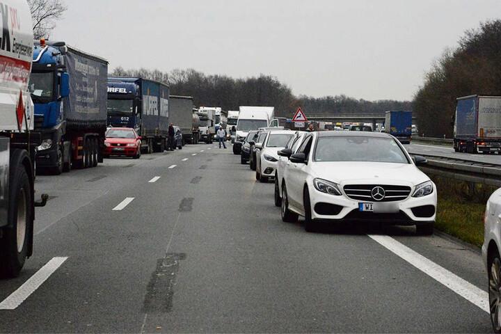 Der Verkehr hatte eine entsprechende Rettungsgasse gebildet.