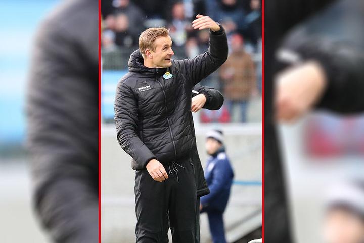 Freute sich über das eigene 2:0 und das 4:4 des Verfolgers Berliner AK: CFC-Trainer David Bergner.
