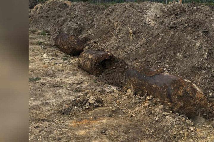 Diese beiden Bomben wurden Anfang August an der A4 gefunden.