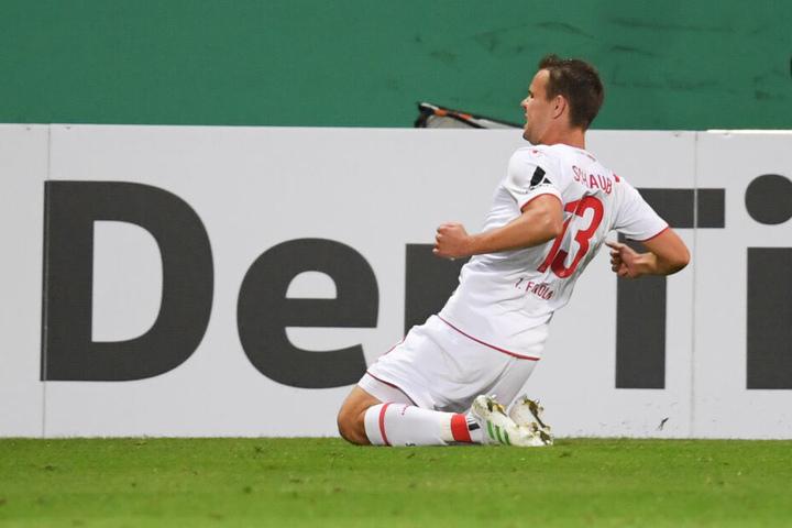 Louis Schaub konnte für den 1. FC Köln in der Verlängerung zum 2:3 treffen.