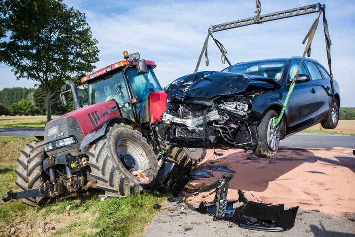 Am Audi entstand bei dem Unfall Totalschaden.