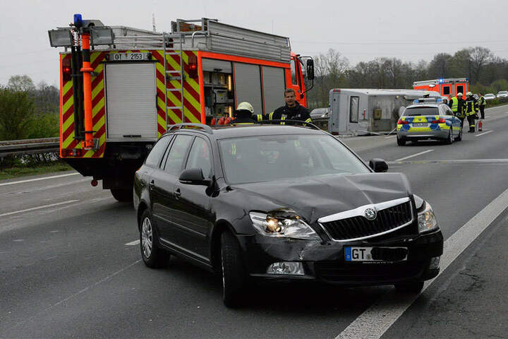 Auch der Skoda war nach dem Unfall komplett Schrott.