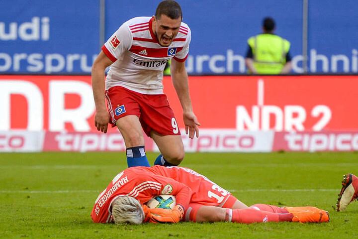 HSV-Keeper Julian Pollersbeck sorgte mit starken Paraden für neue Hoffnung beim abstiegsbedrohten Bundesliga-Dino.