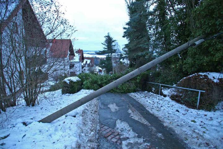 Viele Straßen waren durch umgestürzte Bäume blockiert.