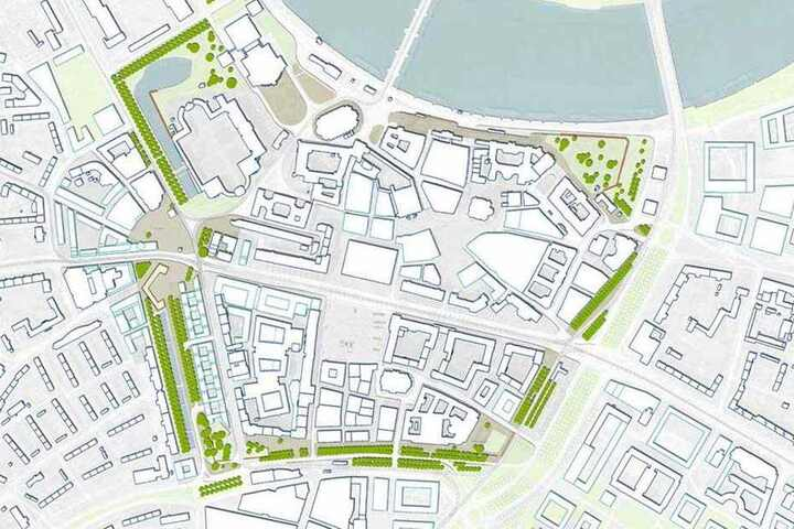 Entlang der alten Festungsmauern soll sich der Promenadenring um die City ziehen.