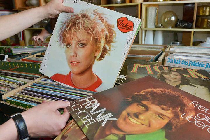 Beim Stöbern durch Hunderte Platten findet man echte Schätze. Wie dieses Album von Inka Bause aus dem Jahr 1987.
