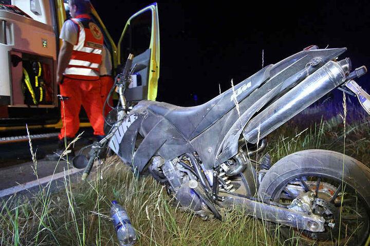 Auch der Biker wurde verletzt.