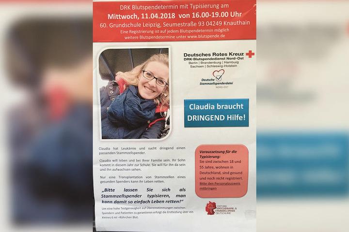 Wer Claudia helfen möchte, kommt nächsten Mittwoch einfach in die 60. Grundschule nach Knauthain.
