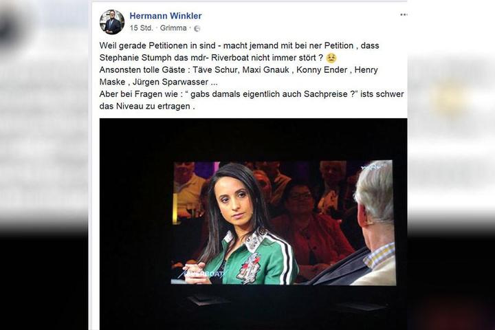 So postete Hermann Winkler. In der Show waren Sportlegenden wie Sven Hannawald, Jürgen Sparwasser, Täve Schur und Henry Maske zu Gast.
