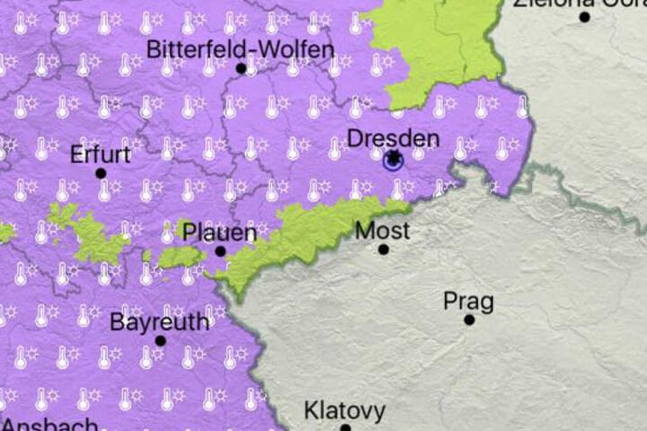 Am Freitag und Samstag warnt der DWD vor Hitze in Sachsen.