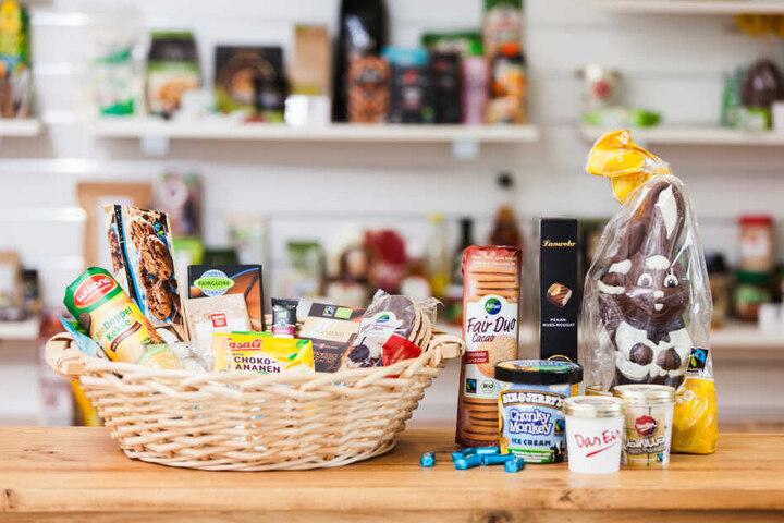 So bunt, süß und lecker sieht das Süßigkeiten-Sortiment mit Fairtrade-Logo aus!