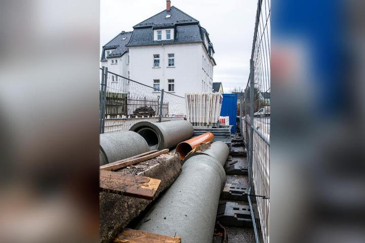 Wegen Kanalarbeiten werden ab Montag drei Straßen in Limbach-Oberfrohna gesperrt.