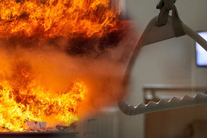Das Feuer brach in einem Altenheim aus. (Symbolbild/Fotomontage)