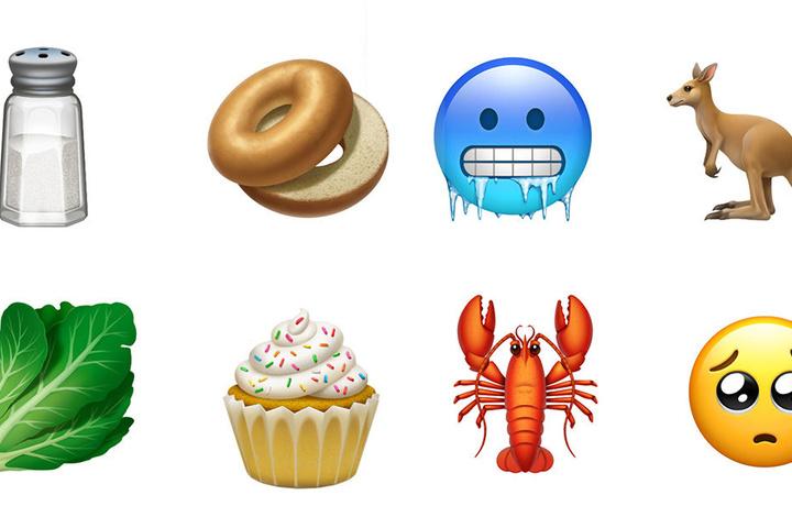 Einige der neuen Emojis.